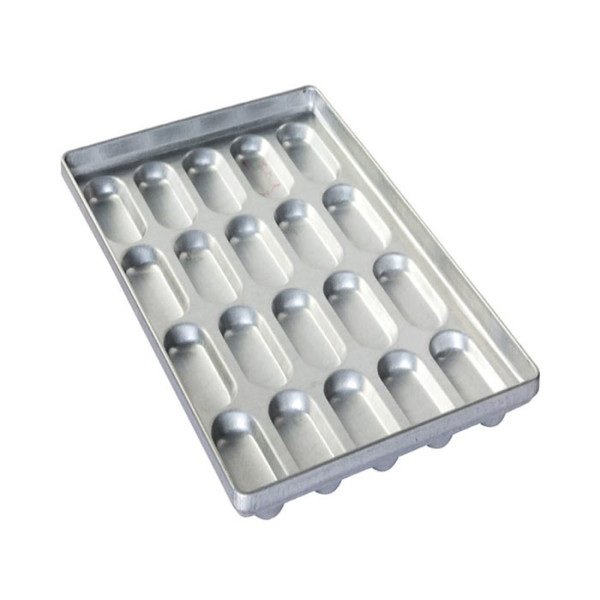 Sanal Fırın - Pastane ve Fırıncılık Malzemeleri AL METAL TEFLONSUZ SANDVİÇ EKMEK TAVASI 35 GÖZLÜ 1.5 MM, 2 MM 60x90 CM
