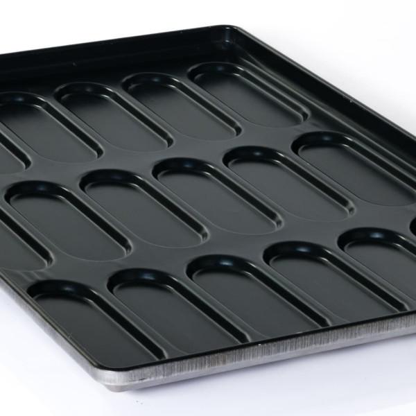 Sanal Fırın - Pastane ve Fırıncılık Malzemeleri TEFLON KAPLAMA SANDVİÇ EKMEK TAVASI 24 GÖZLÜ 1.5 MM, 58x80 CM