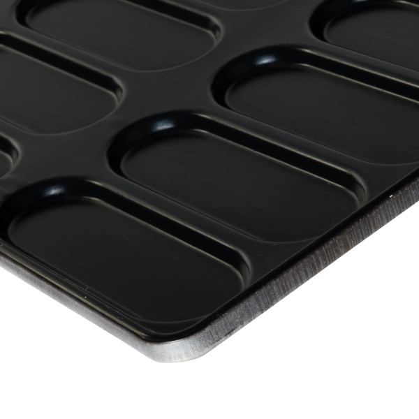 Sanal Fırın - Pastane ve Fırıncılık Malzemeleri TEFLON KAPLAMA SANDVİÇ EKMEK TAVASI 15 GÖZLÜ, 1.5 MM 40x60 CM