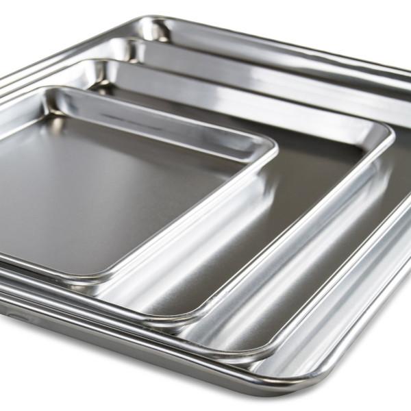 Sanal Fırın - Pastane ve Fırıncılık Malzemeleri AL METAL TEFLONSUZ KORDONLU DÜZ ALUMİNYUM TAVA 2 MM 75X104 CM
