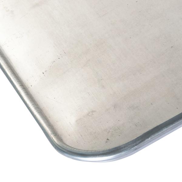 Sanal Fırın - Pastane ve Fırıncılık Malzemeleri AL METAL TEFLONSUZ DÜZ ALUMİNYUM DÖNER FIRIN TAVASI TAVASI 78X100 CM