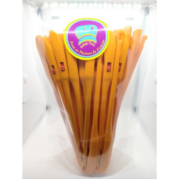 Sanal Fırın - Pastane ve Fırıncılık Malzemeleri 50 ADET 3 KADEMELİ AYARLANABİLİR EKMEK HAMURU ÇİZME APARATI - Renk (Turuncu)