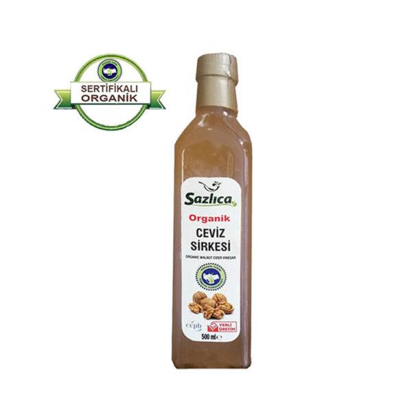 Sanal Fırın - Pastane ve Fırıncılık Malzemeleri SAZLICA ORGANİK CEVİZ SİRKESİ 500ML
