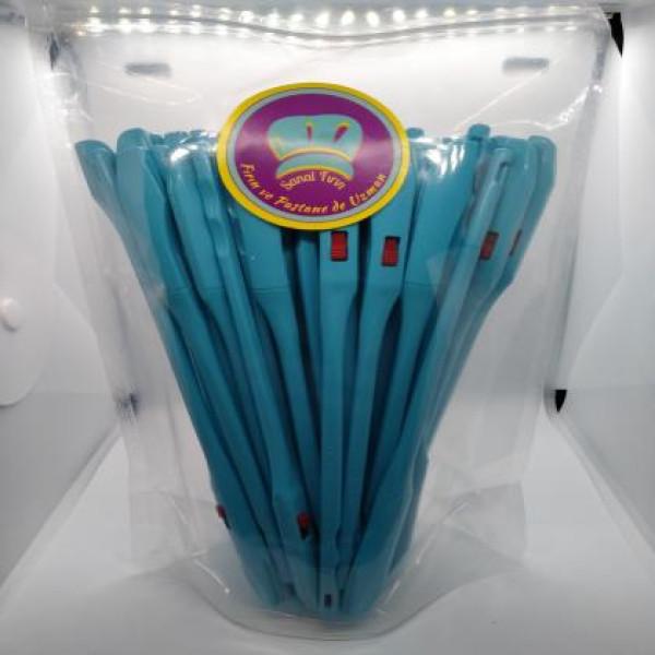 Sanal Fırın - Pastane ve Fırıncılık Malzemeleri 50 ADET 3 KADEMELİ AYARLANABİLİR EKMEK HAMURU ÇİZME APARATI - Renk (Mavi)