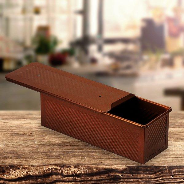 Sanal Fırın - Pastane ve Fırıncılık Malzemeleri 10x10x30 CM EKMEK KALIBI (Bronz)