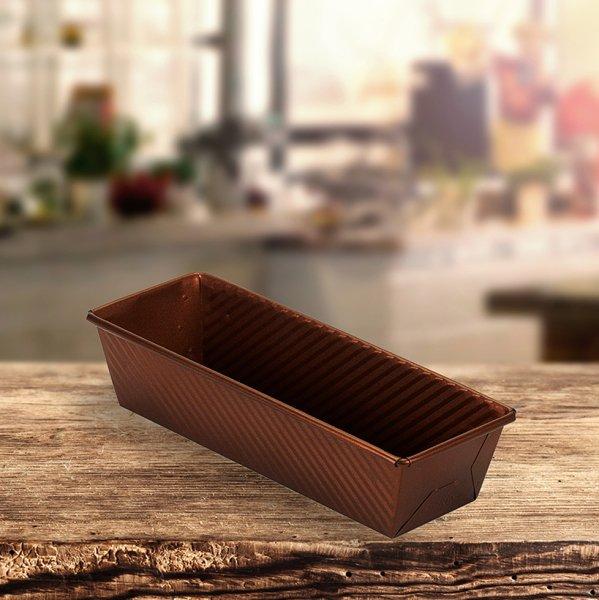 Sanal Fırın - Pastane ve Fırıncılık Malzemeleri EKMAŞ 10x7x30 CM KAPAKSIZ EKMEK KALIBI (Bronz)