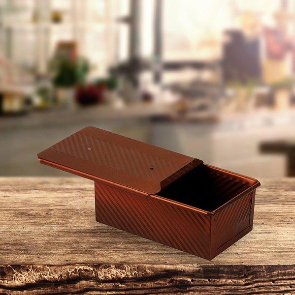 Sanal Fırın - Pastane ve Fırıncılık Malzemeleri 12x8x20 CM EKMEK KALIBI (Bronz)
