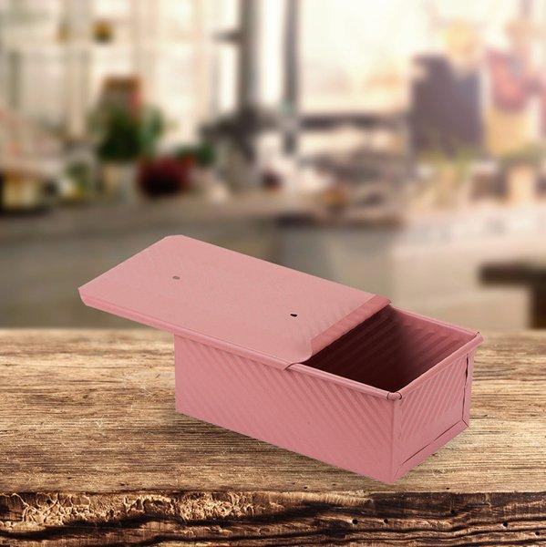 Sanal Fırın - Pastane ve Fırıncılık Malzemeleri 12x8x20 CM EKMEK KALIBI (Rose)