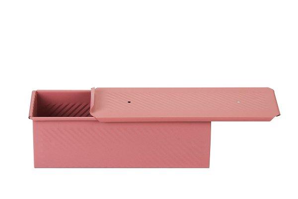 Sanal Fırın - Pastane ve Fırıncılık Malzemeleri 10x10x30 CM EKMEK KALIBI (Rose)