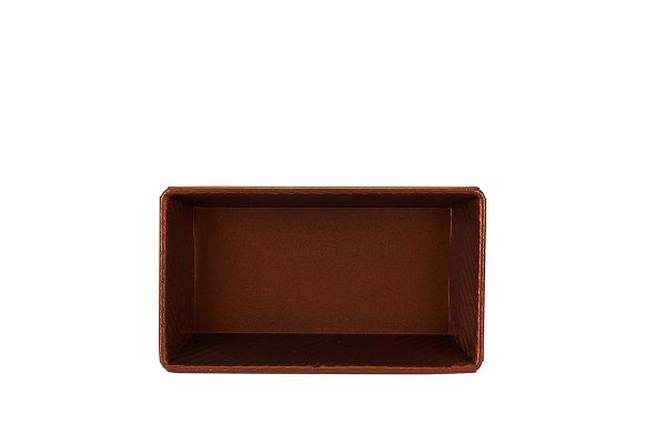 Sanal Fırın - Pastane ve Fırıncılık Malzemeleri 13x7x24 CM KAPAKSIZ EKMEK KALIBI (Bronz)