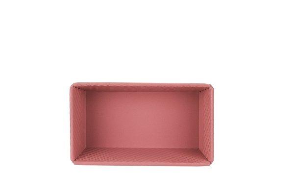 Sanal Fırın - Pastane ve Fırıncılık Malzemeleri 13x7x24 CM KAPAKSIZ EKMEK KALIBI (Rose)