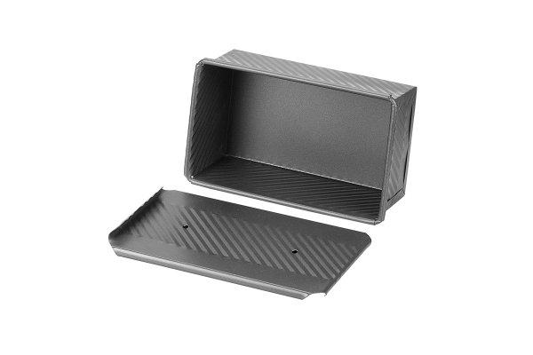 Sanal Fırın - Pastane ve Fırıncılık Malzemeleri EKMAŞ 12x8x20 CM EKMEK KALIBI (Gümüş)