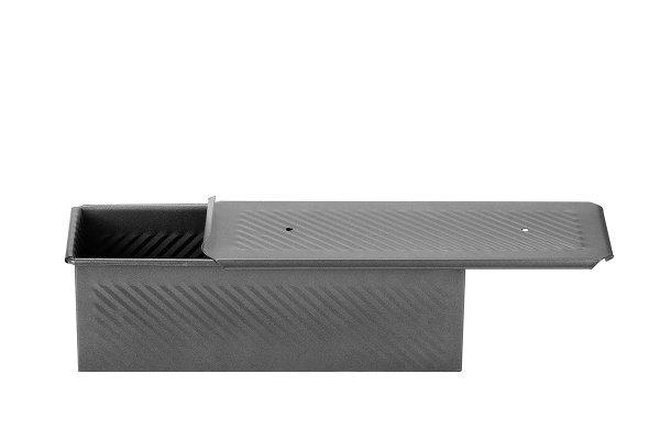 Sanal Fırın - Pastane ve Fırıncılık Malzemeleri 10x10x30 CM EKMEK KALIBI (Gümüş)