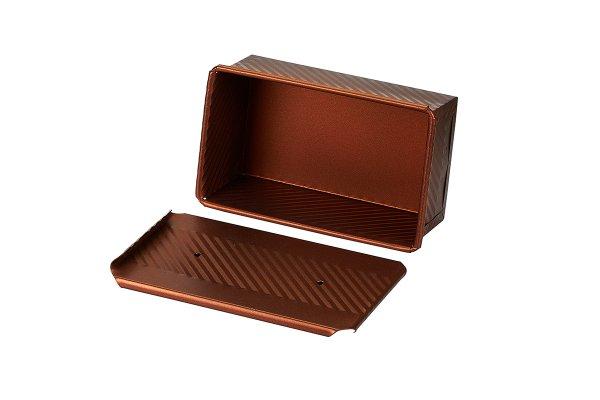 Sanal Fırın - Pastane ve Fırıncılık Malzemeleri EKMAŞ 12x8x20 CM EKMEK KALIBI (Bronz)