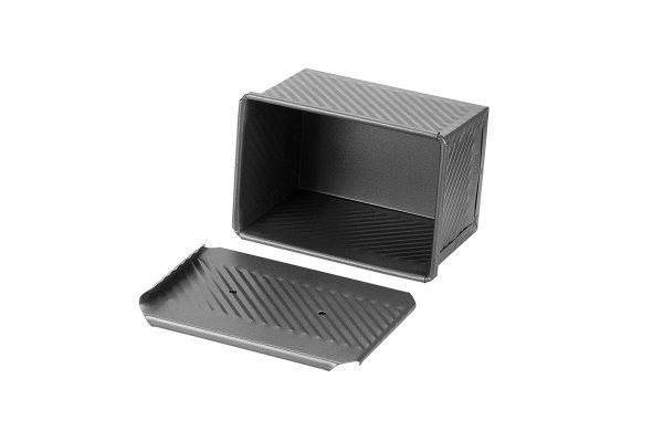 Sanal Fırın - Pastane ve Fırıncılık Malzemeleri EKMAŞ 11x11x16 CM EKMEK KALIBI (Gümüş)