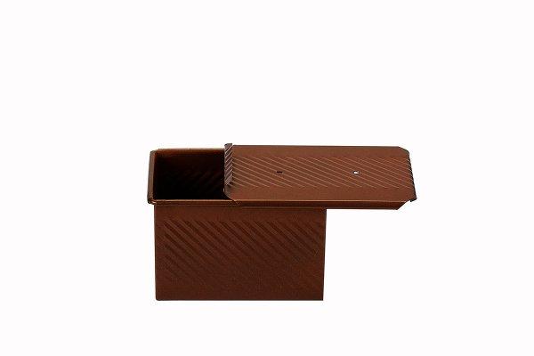 Sanal Fırın - Pastane ve Fırıncılık Malzemeleri 11x11x16 CM EKMEK KALIBI (Bronz)