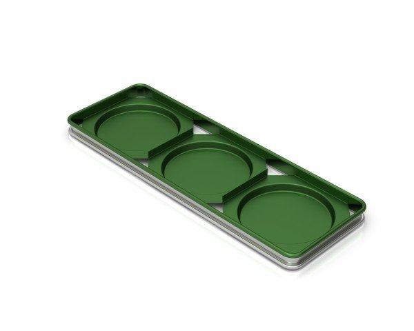 Sanal Fırın - Pastane ve Fırıncılık Malzemeleri 3'LÜ YUVARLAK KÖY EKMEĞİ TAVASI TEFLON KAPLAMALI