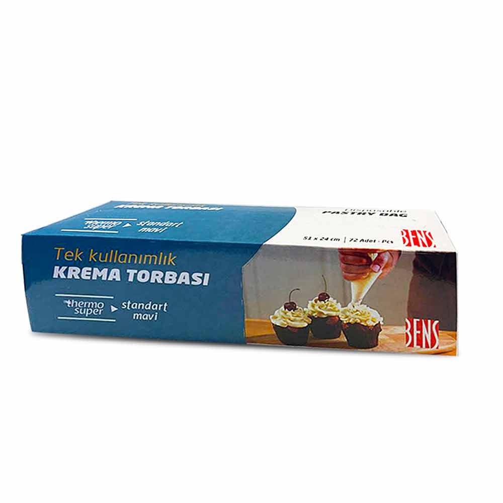 Sanal Fırın - Pastane ve Fırıncılık Malzemeleri 51 CM KREMA TORBASI MAVİ 72'Lİ