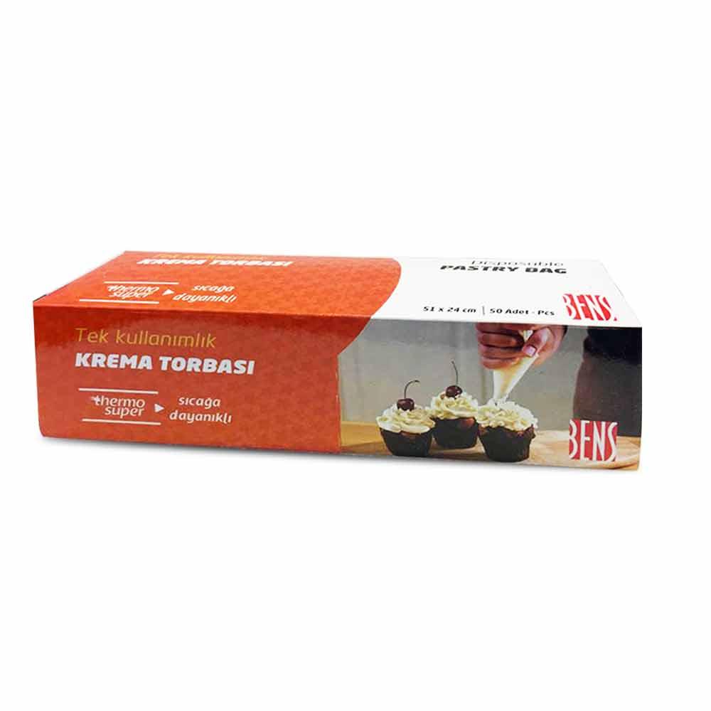 Sanal Fırın - Pastane ve Fırıncılık Malzemeleri 51 CM SICAĞA DAYANIKLI KREMA TORBASI TURUNCU 50'Lİ