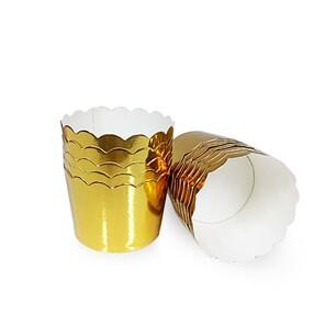 Sanal Fırın - Pastane ve Fırıncılık Malzemeleri ALTIN DESENSİZ LAZ KES KAP SAP 104-4 25 Lİ