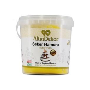 Sanal Fırın - Pastane ve Fırıncılık Malzemeleri ALTIN USTA ŞEKER HAMURU SARI 1 KG