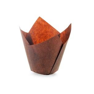 Sanal Fırın - Pastane ve Fırıncılık Malzemeleri TULİP KEK KALIBI KAHVERENGİ 200 ADET
