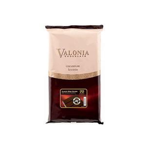 Sanal Fırın - Pastane ve Fırıncılık Malzemeleri VALONİA BİTTER KUVERTÜR % 70 2,5 KG 12013