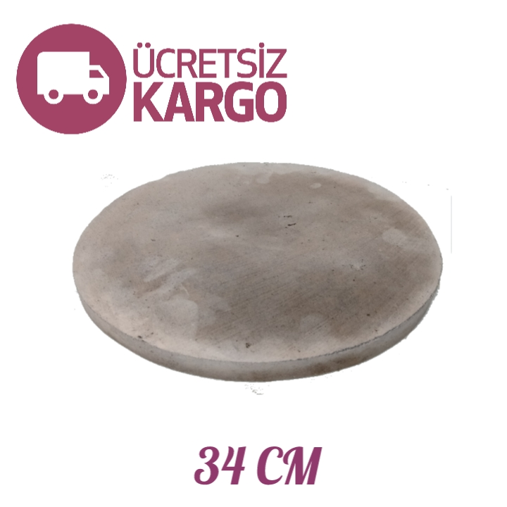 Sanal Fırın - Pastane ve Fırıncılık Malzemeleri ORGANİK YUVARLAK PİZZA & PİDE TAŞI 34 CM